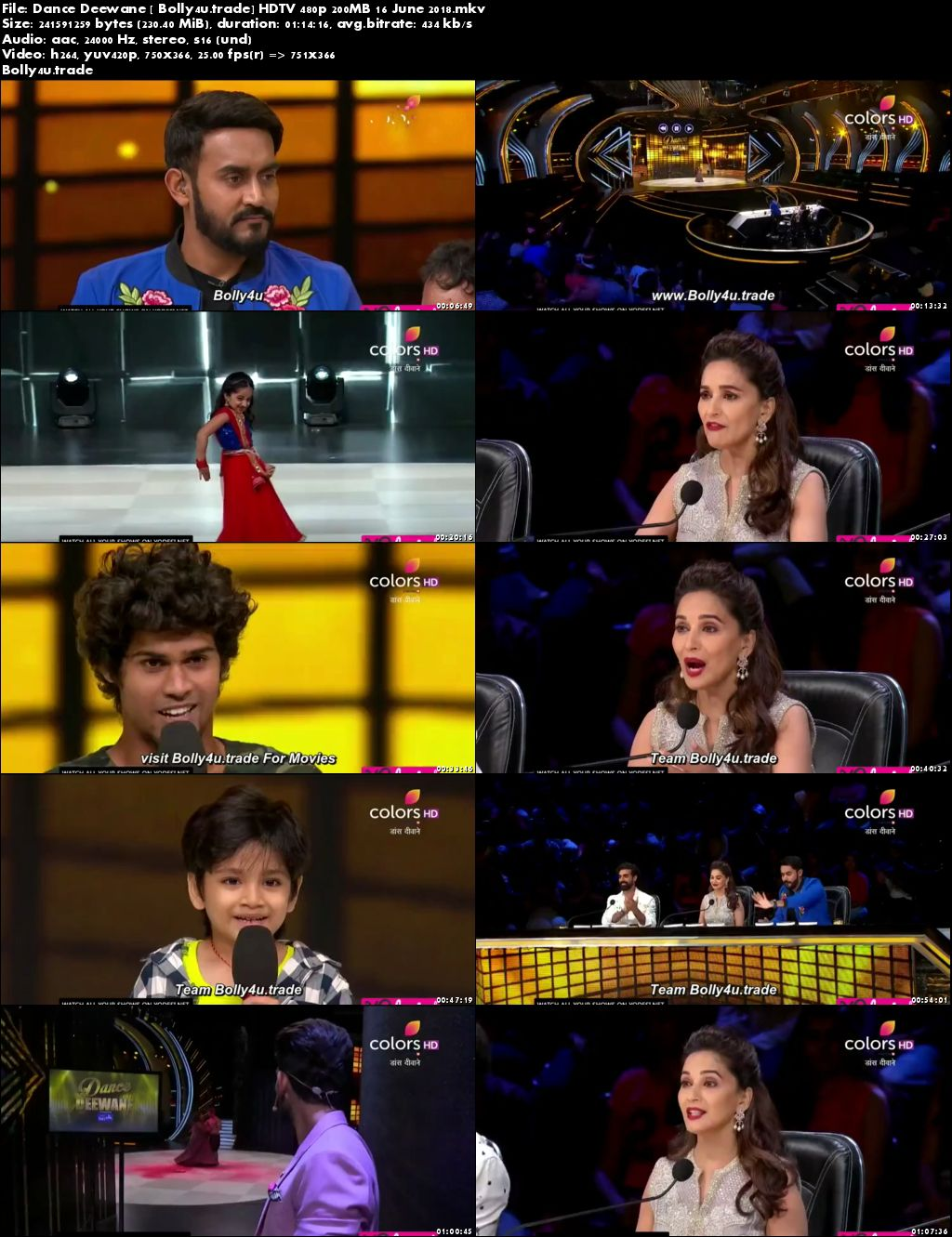 Dance Deewane HDTV 480p 200MB 16 June 2018 Download