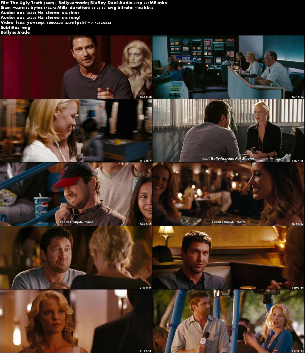 The Ugly Truth 2009 BluRay 750Mb Hindi Dual Audio 720p Download