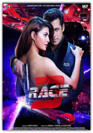 Race 3 2018 pDVDRip V2 450Mb Full Hindi Movie Download 480p