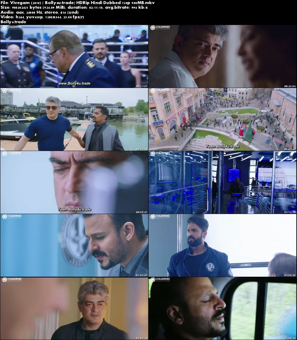 Vivegam 2018 HDRip 900MB Hindi Dubbed 720p Download