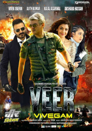 Vivegam 2018 HDRip 900MB Hindi Dubbed 720p
