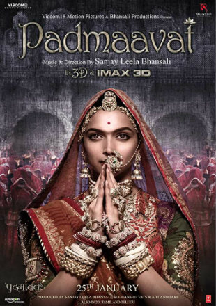 Padmavat 2018 DVDRip 450MB Full Hindi Movie Download 480p