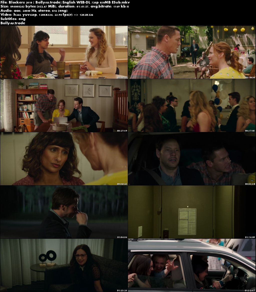 Blockers 2018 WEB-DL 850MB English 720p ESub Download