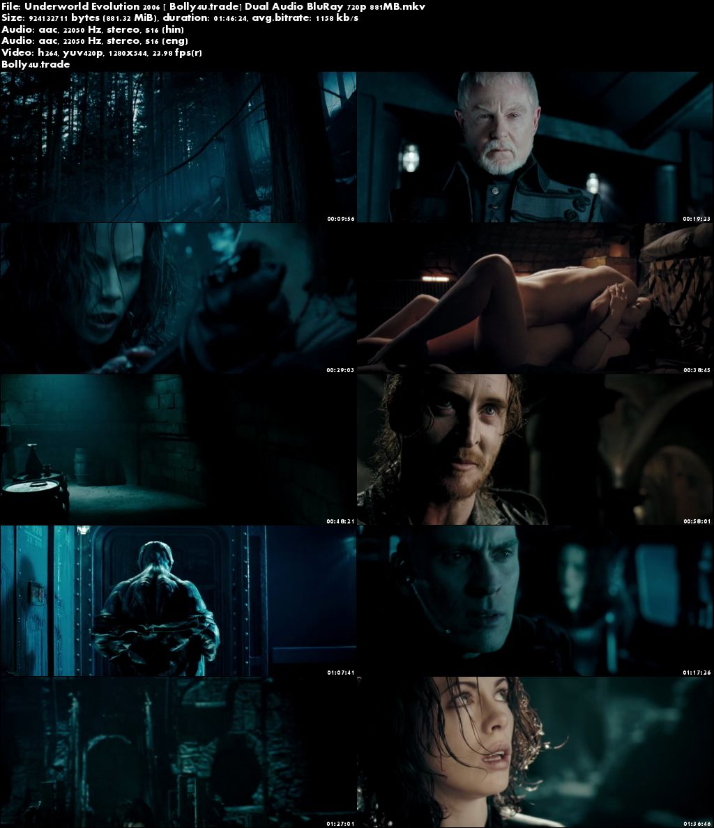 Underworld Evolution 2006 BluRay 350MB Hindi Dual Audio 480p Download