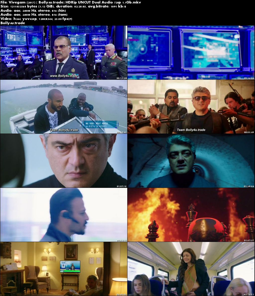 Vivegam 2017 HDRip UNCUT Hindi Dual Audio 720p Download