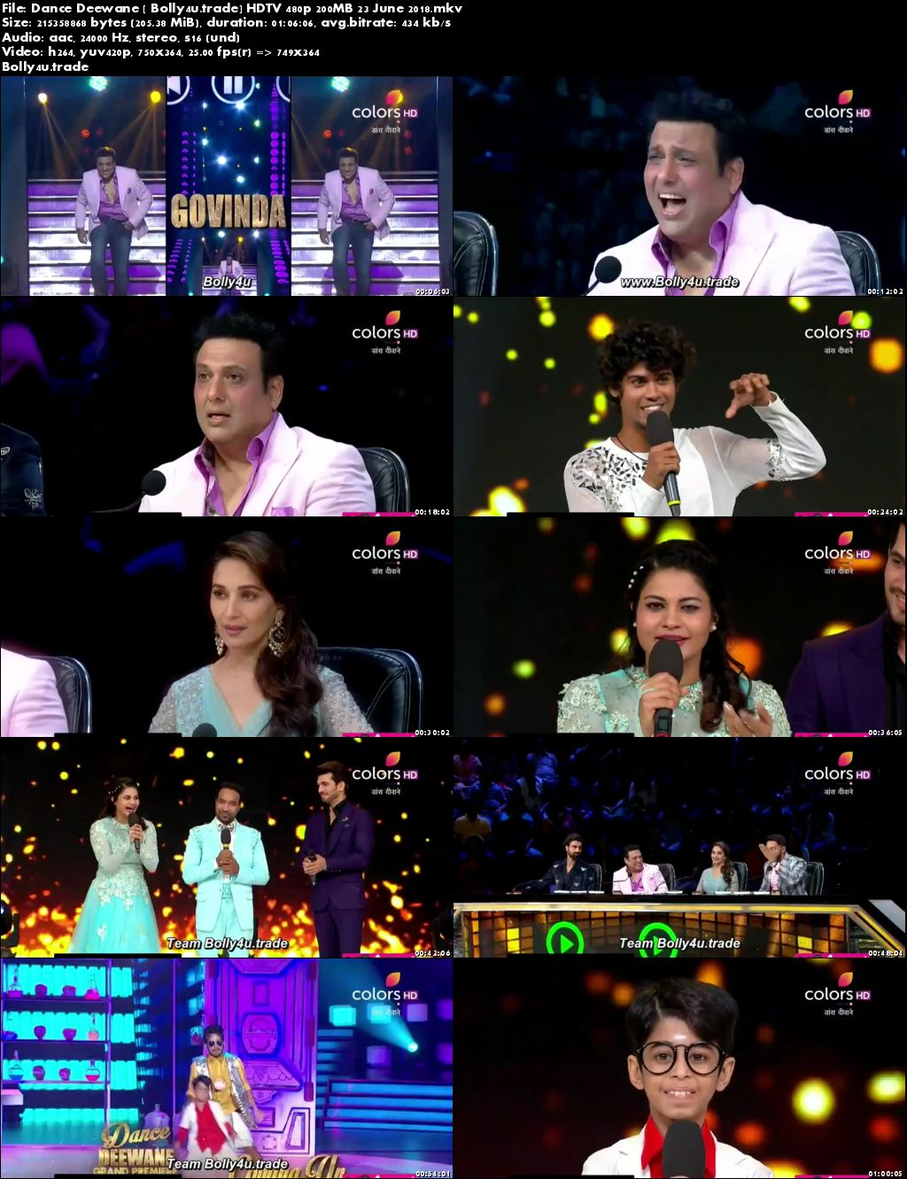 Dance Deewane HDTV 480p 200MB 23 June 2018 Download