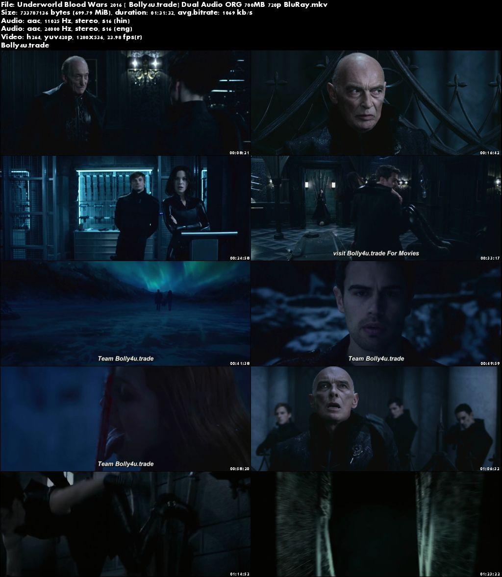 Underworld Blood Wars 2016 BluRay 700Mb Hindi Dual Audio ORG 720p Download