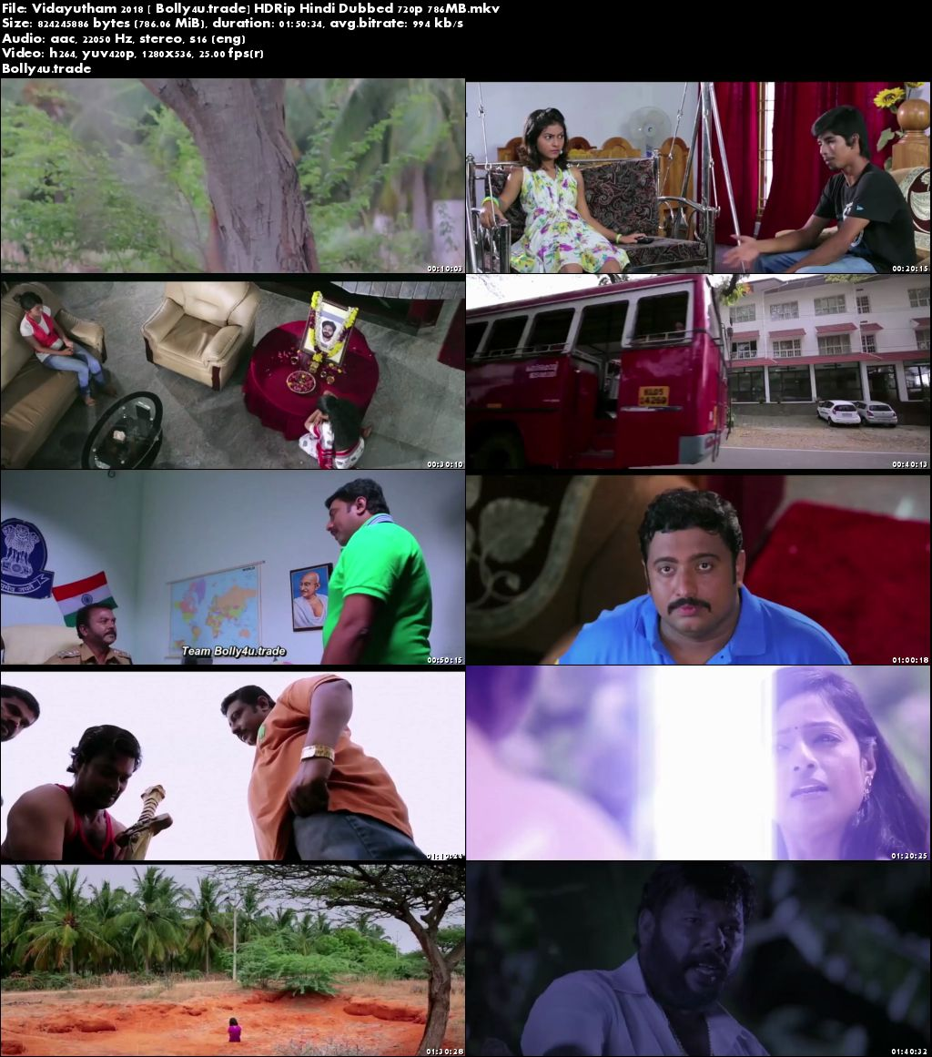 Vidayutham 2018 HDRip 750MB Hindi Dubbed 720p Download