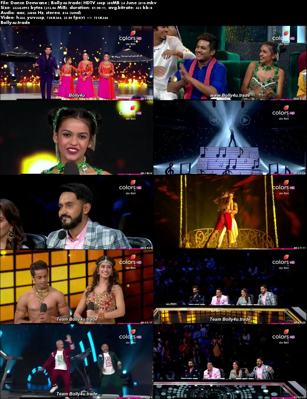 Dance Deewane HDTV 480p 200MB 24 June 2018 Download