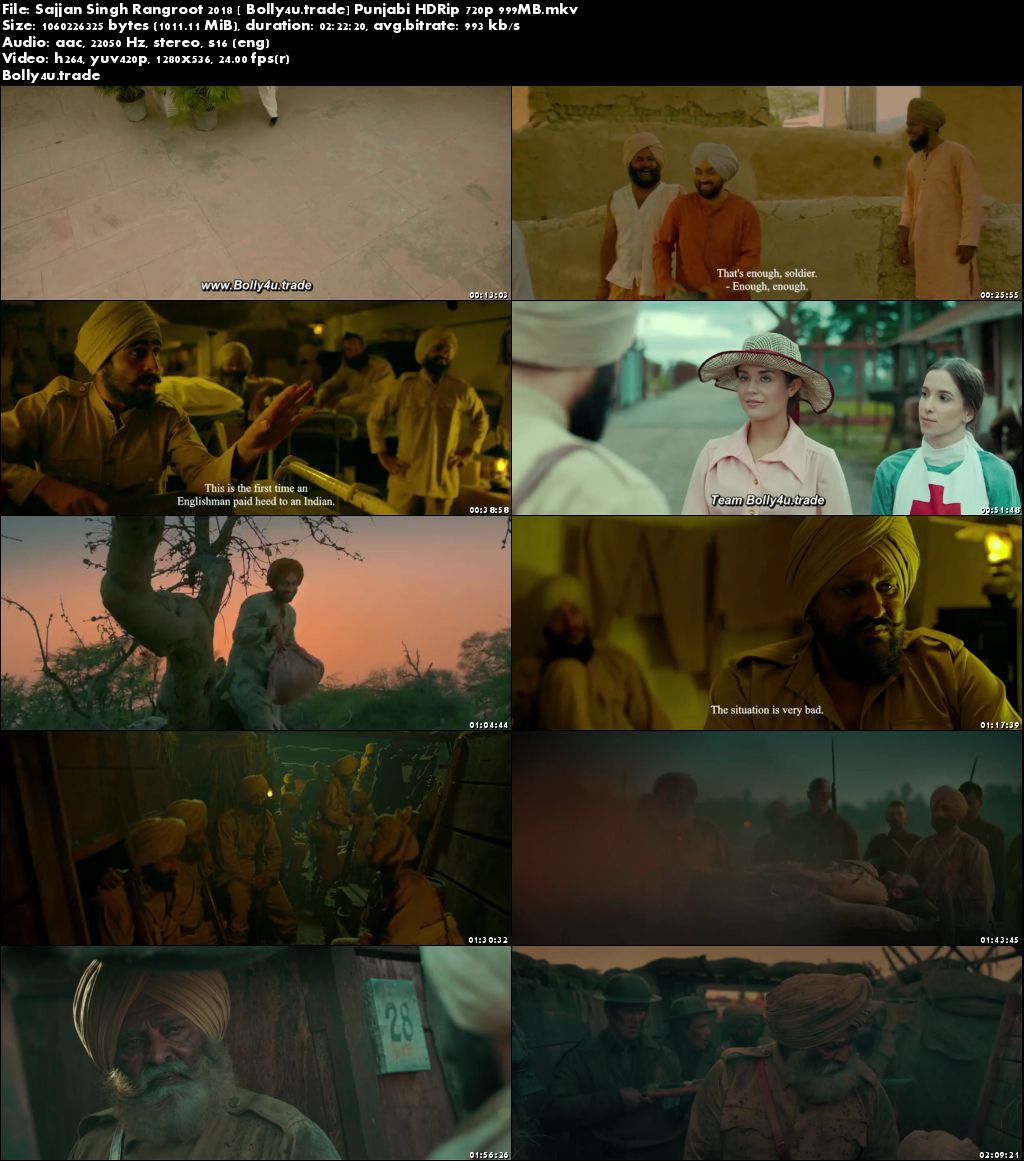 Sajjan Singh Rangroot 2018 HDRip 999MB Punjabi 720p Download