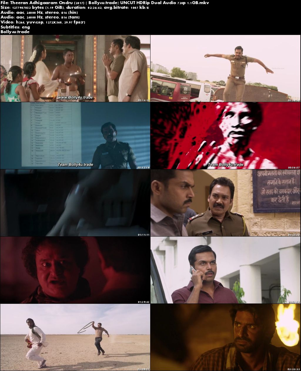 Theeran Adhigaaram Ondru 2017 HDRip 500MB UNCUT Hindi Dual Audio 480p Download