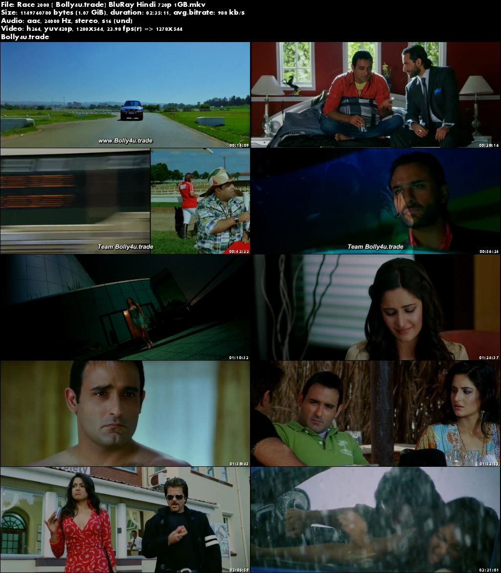 Race 2008 BluRay 1Gb Full Hindi Movie Download 720p