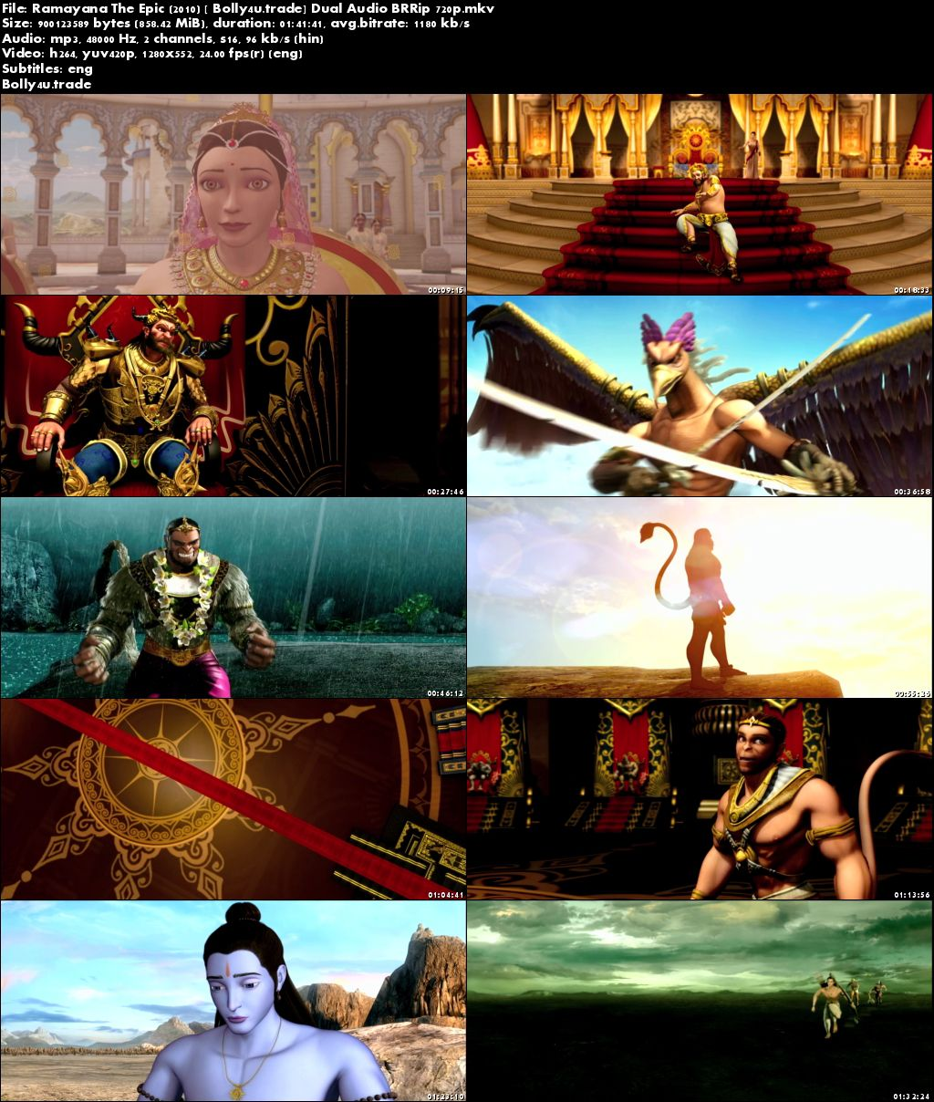 Ramayana The Epic 2010 BluRay 300MB Hindi 480p Download