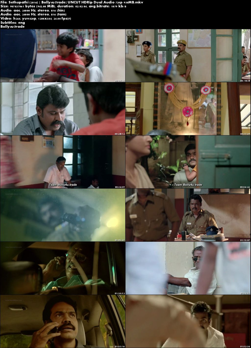 Sethupathi 2016 HDRip 950Mb UNCUT Hindi Dual Audio 720p Download
