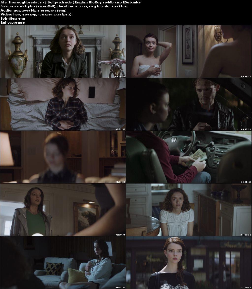 Thoroughbreds 2017 BluRay 850Mb English 720p ESub Download