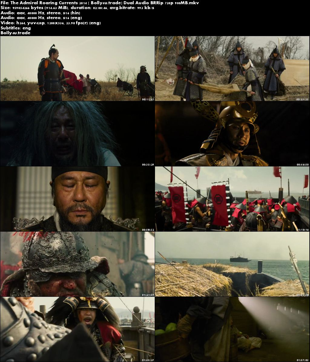 The Admiral Roaring Currents 2014 BRRip 900MB Hindi Dual Audio 720p Download