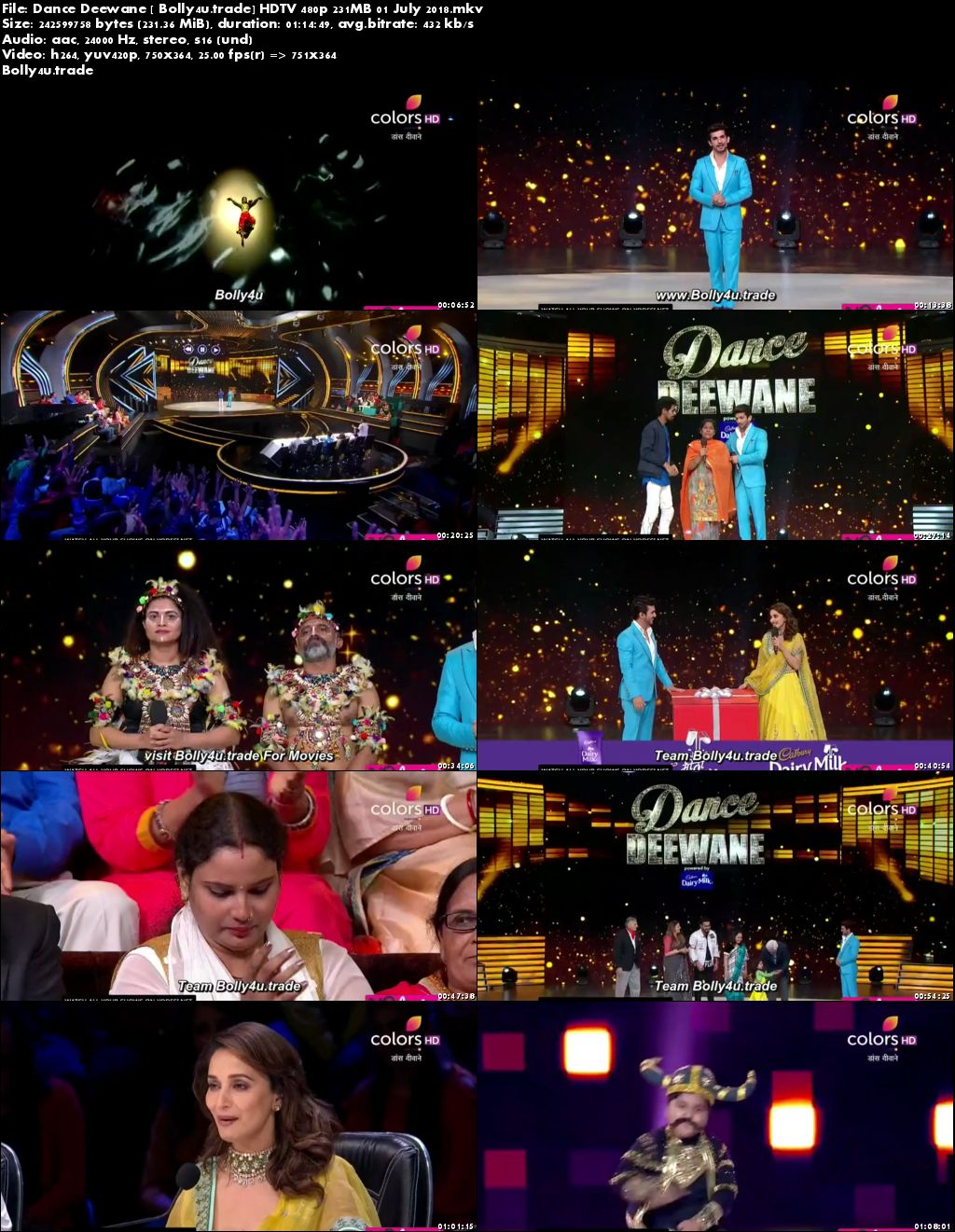 Dance Deewane HDTV 480p 200MB 01 July 2018 Download
