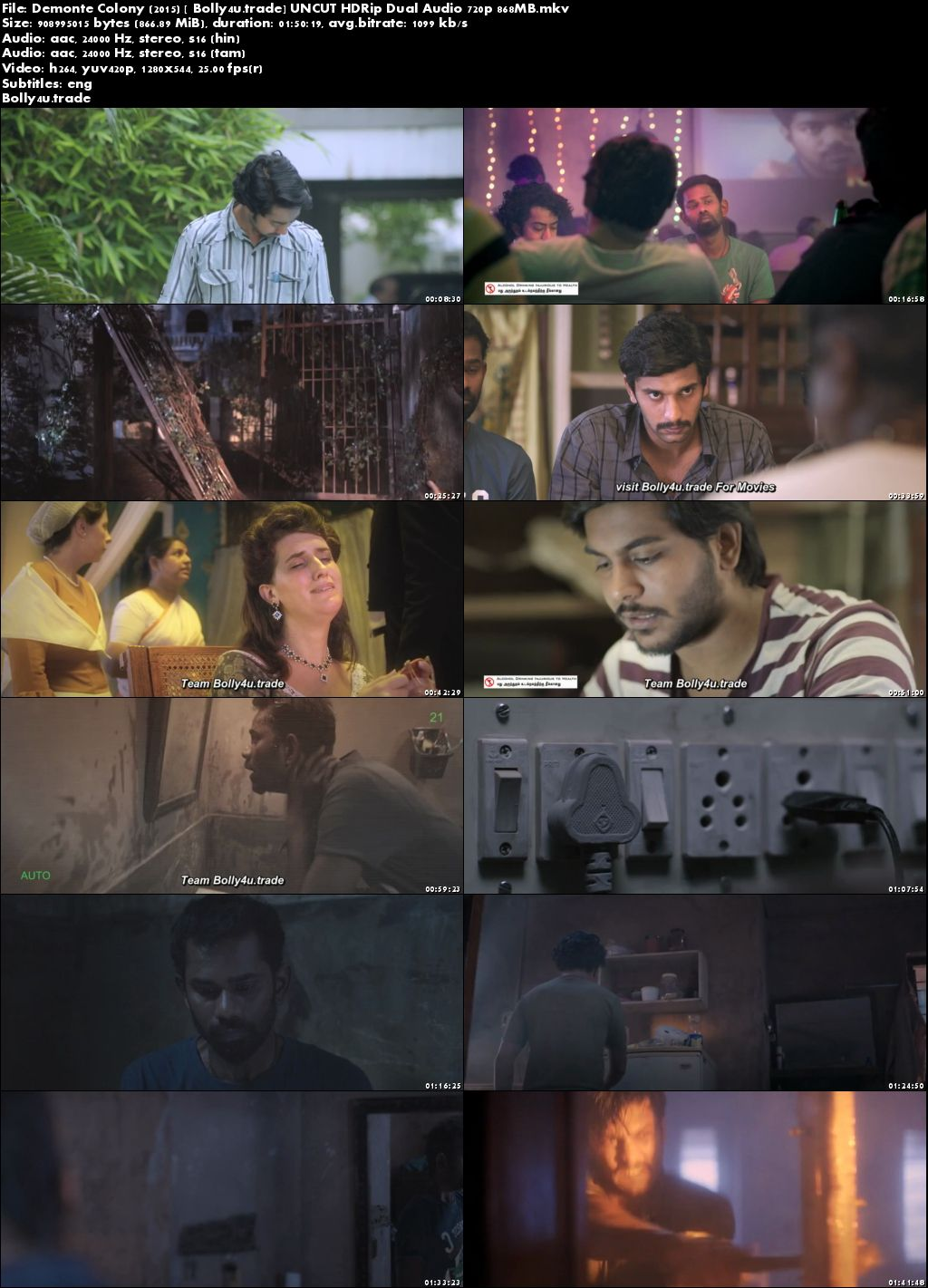 Demonte Colony 2015 HDRip 350MB UNCUT Hindi Dual Audio 480p Download