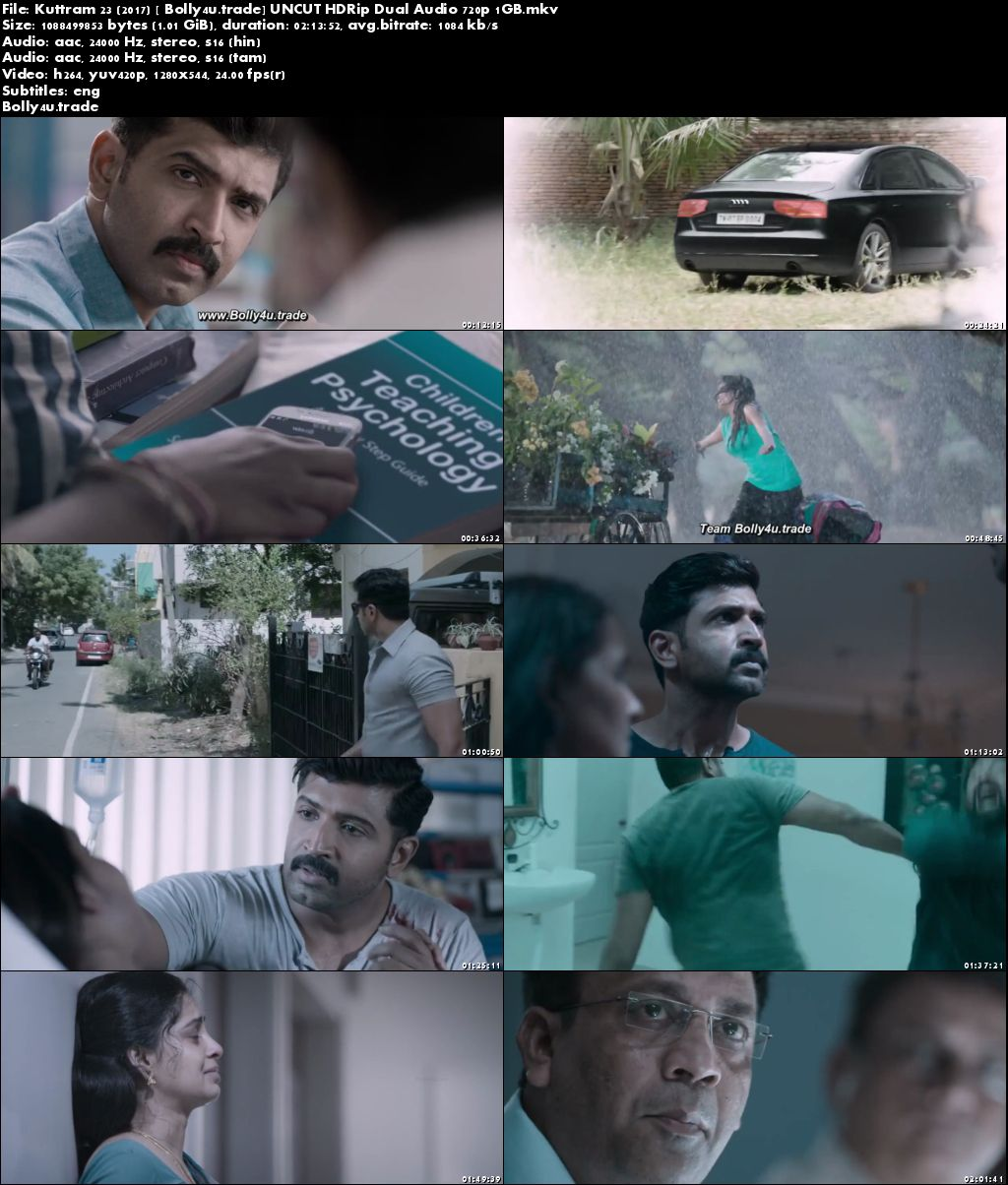 Kuttram 23 2017 HDRip 1GB UNCUT Hindi Dual Audio 720p Download