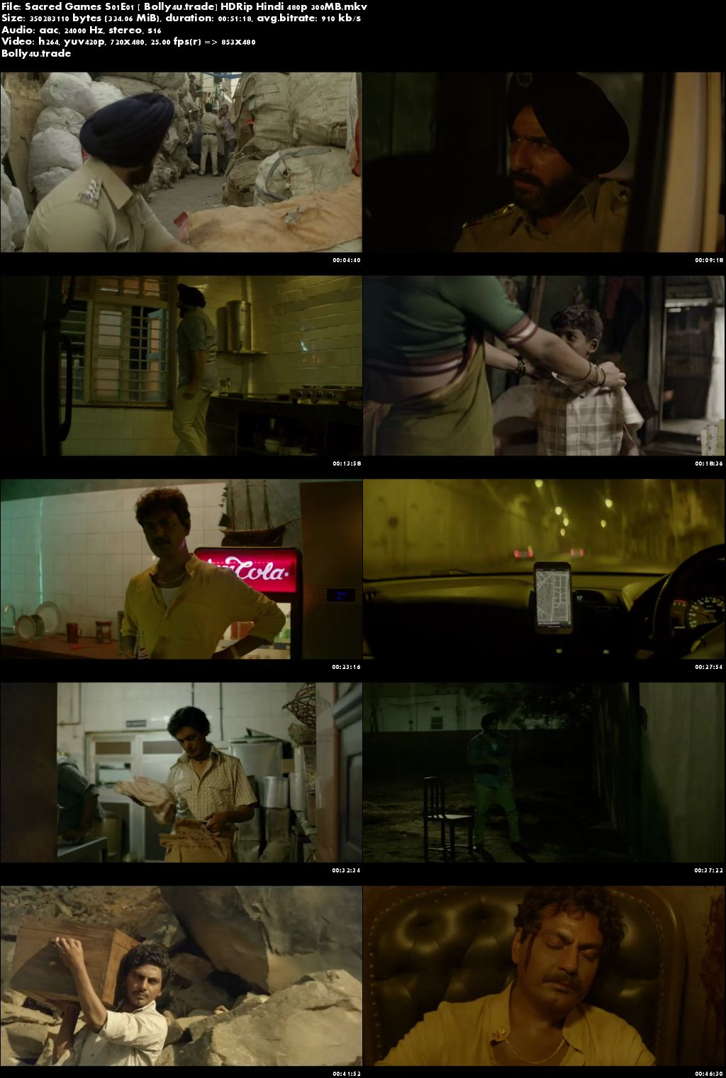 Sacred Games 2018 S01E01 HDRip 300MB Hindi 480p Download
