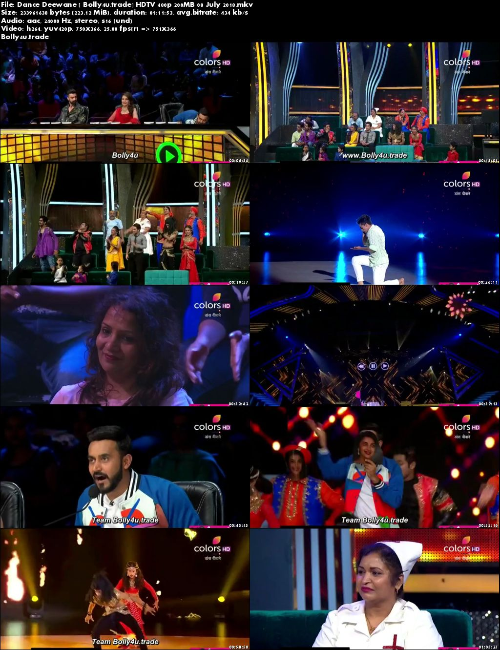 Dance Deewane HDTV 480p 200MB 08 July 2018 Download