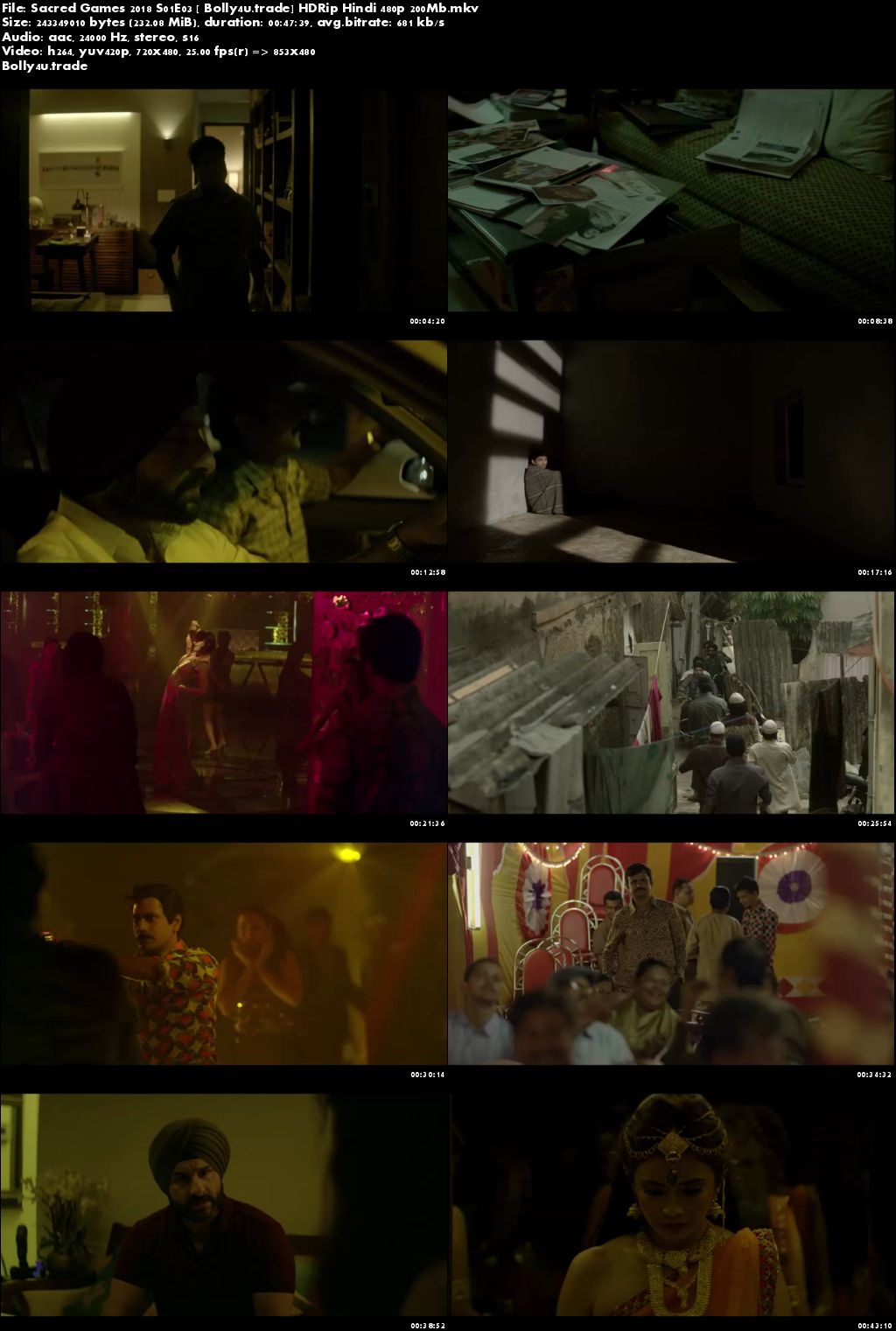 Sacred Games 2018 S01E03 HDRip 200MB Hindi 480p Download