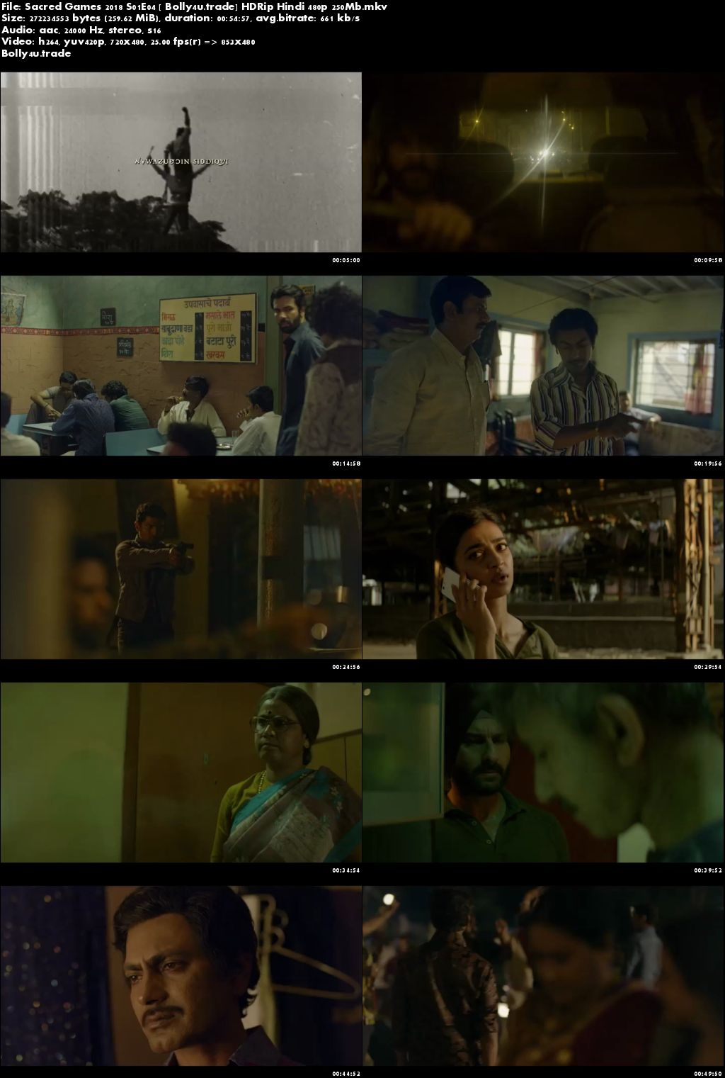 Sacred Games 2018 S01E04 HDRip 250MB Hindi 480p Download