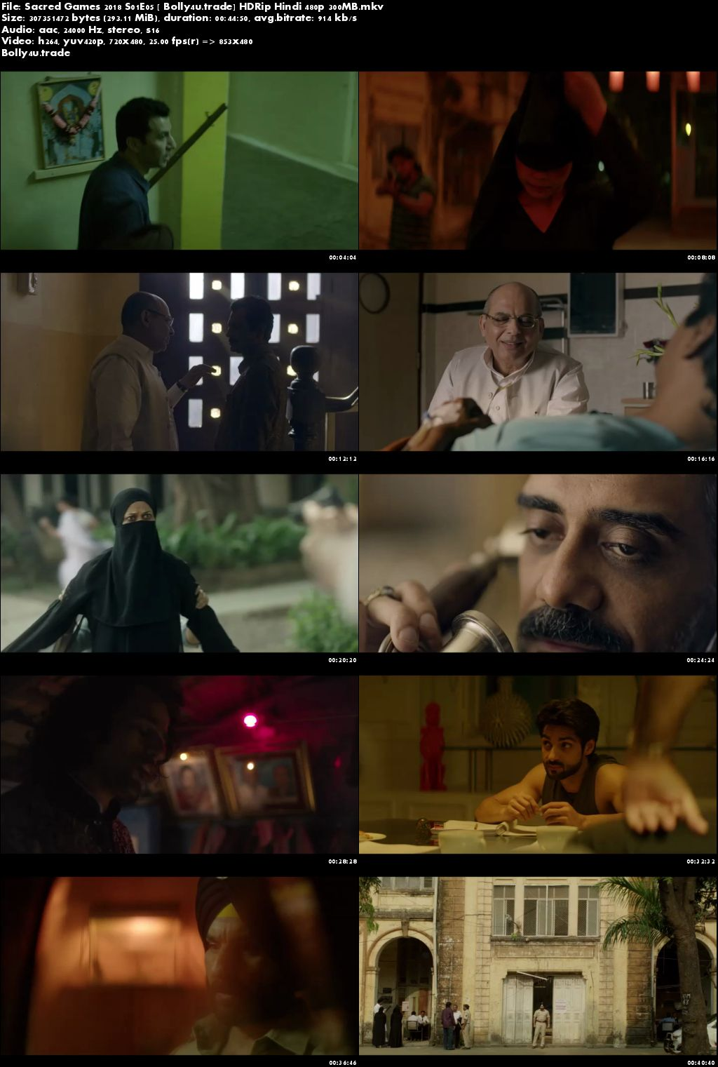 Sacred Games 2018 S01E05 HDRip 300MB Hindi 480p Download