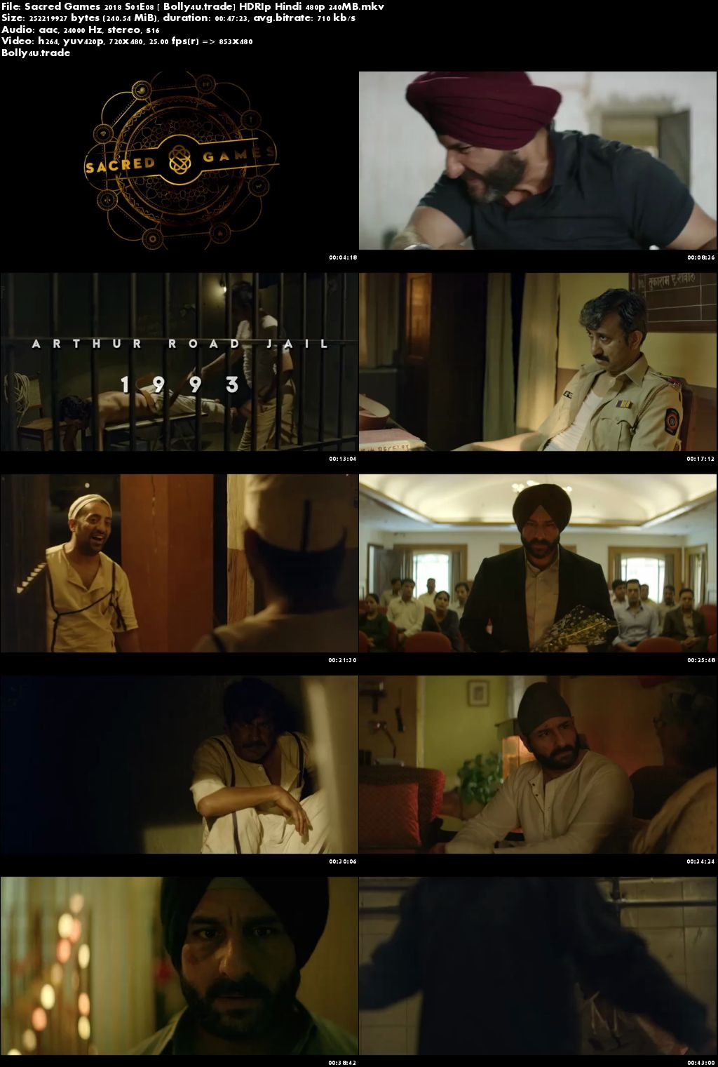 Sacred Games 2018 S01E08 HDRip 250MB Hindi 480p Download