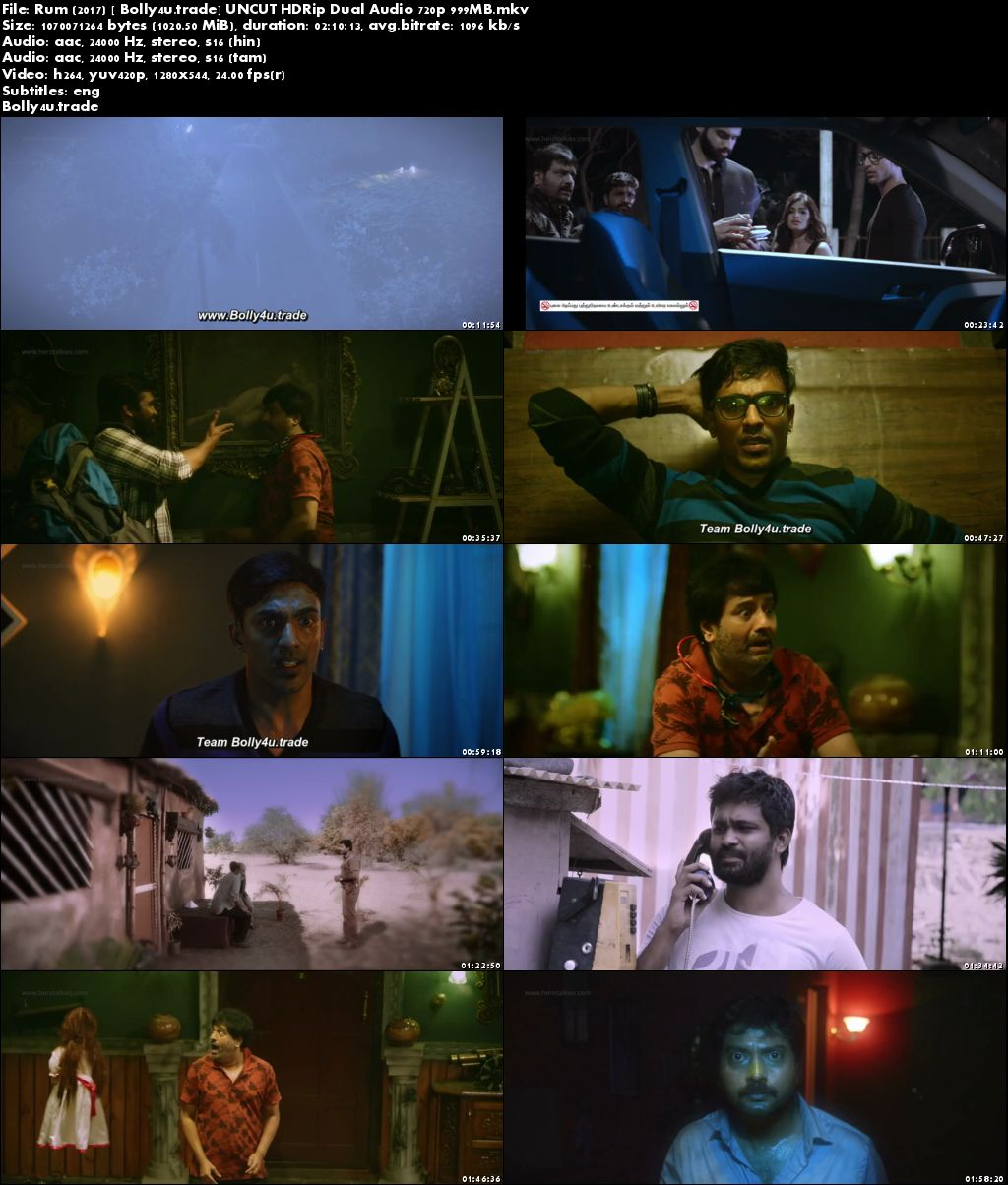 Rum 2017 HDRip 999Mb UNCUT Hindi Dubbed Dual Audio 720p Download