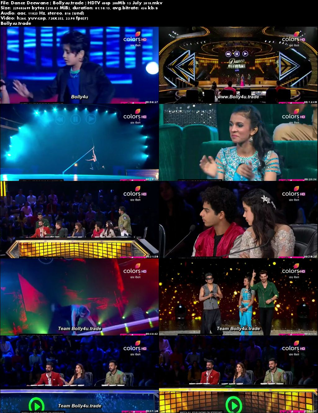 Dance Deewane 2018 HDTV 480p 200Mb 15 July 2018 Download
