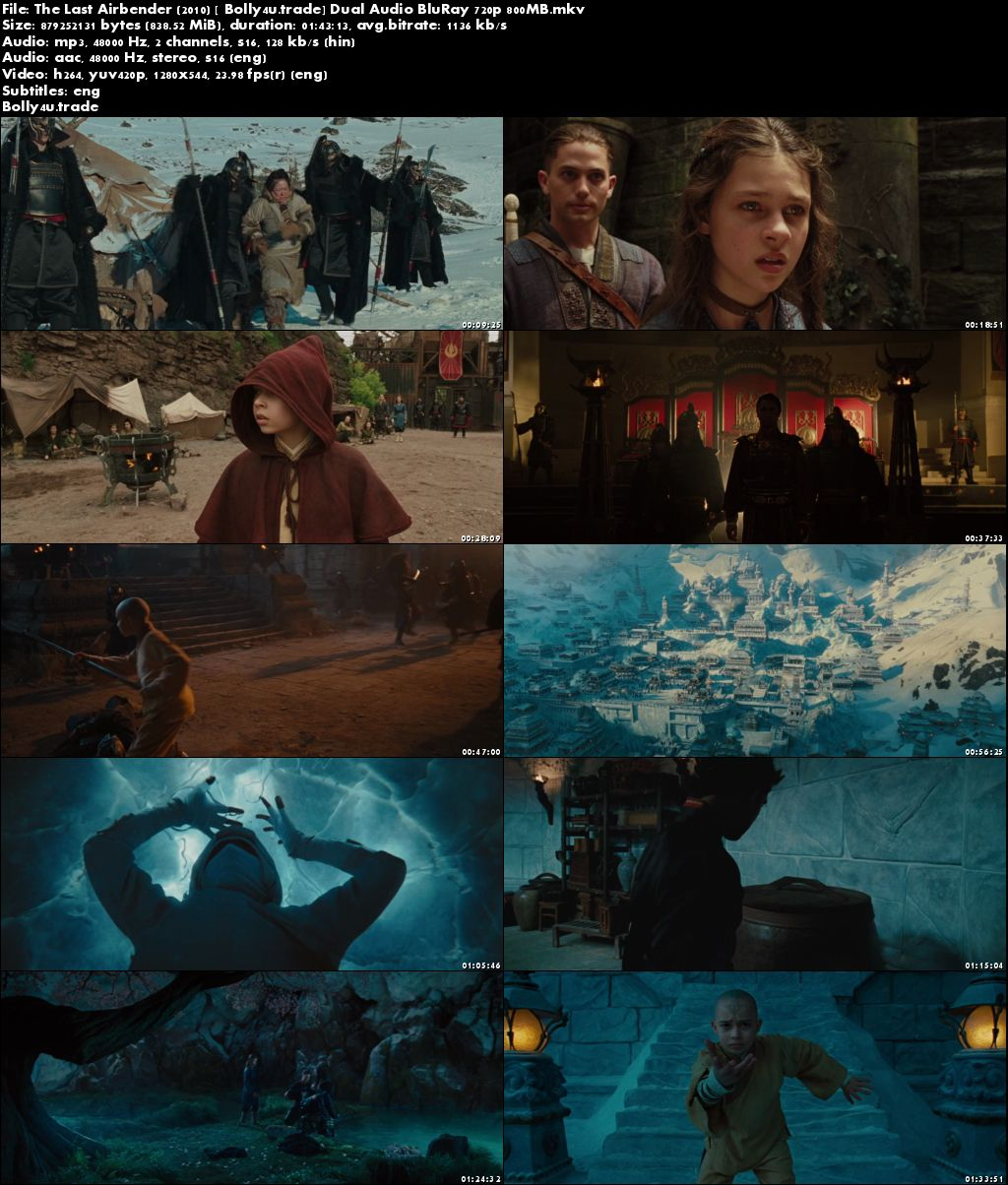 The Last Airbender 2010 BluRay 800MB Hindi Dual Audio 720p ESub Download
