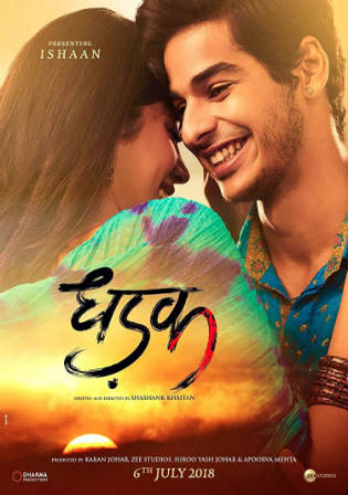 Dhadak 2018 Pre DVDRip 350MB Full Hindi Movie Download 480p