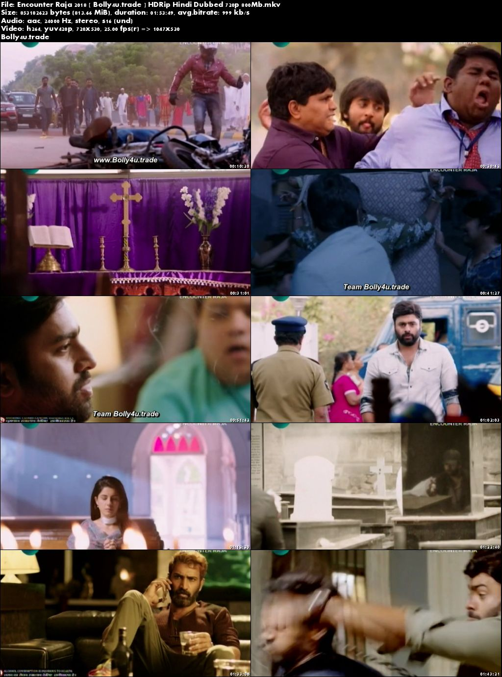 Encounter Raja 2018 HDTV 350MB Full Hindi Dubbed Movie Download 480p
