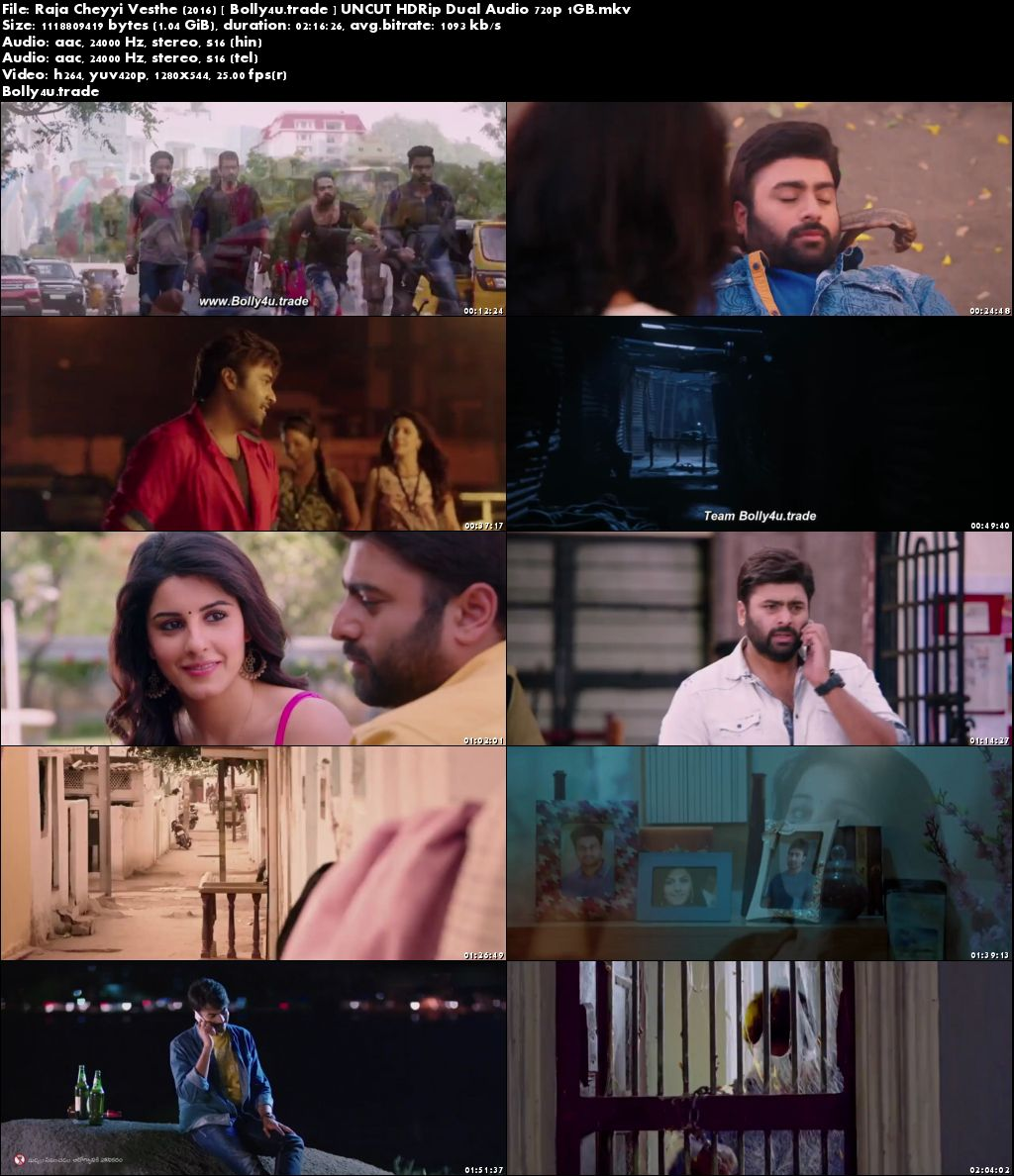 Raja Cheyyi Vesthe 2016 HDRip 1GB UNCUT Hindi Dual Audio 720p Download
