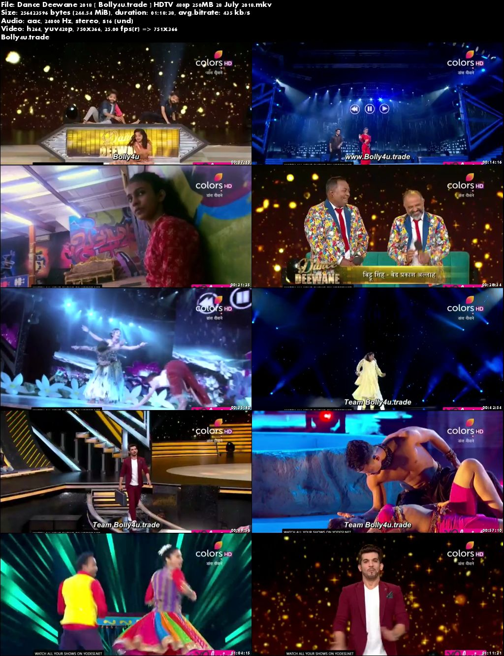 Dance Deewane 2018 HDTV 480p 250MB 28 July 2018 Download