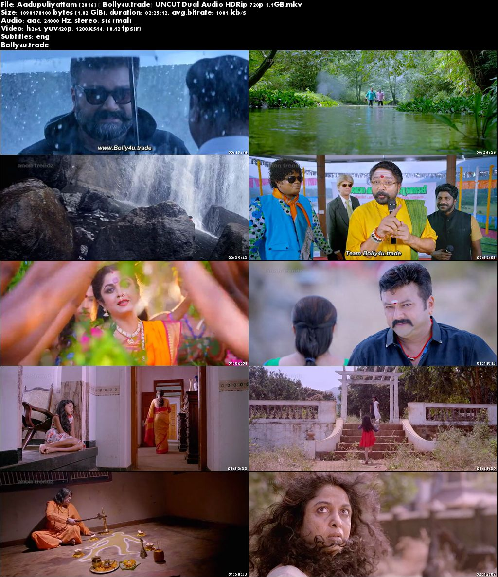 Aadupuliyattam 2016 HDRip UNCUT 450MB Hindi Dubbed Dual Audio 480p Download