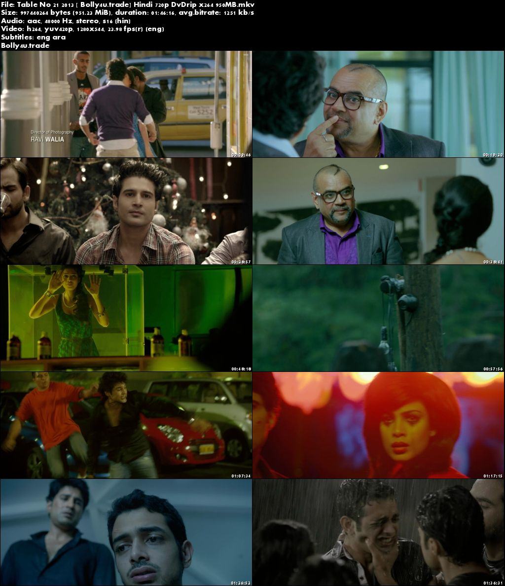 Table No 21 2013 DVDRip 950Mb Full Hindi Movie Download 720p