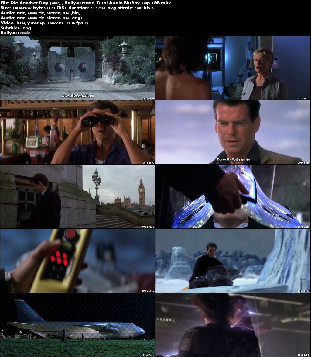 Die Another Day 2002 BluRay 1GB Hindi Dubbed Dual Audio 720p Download