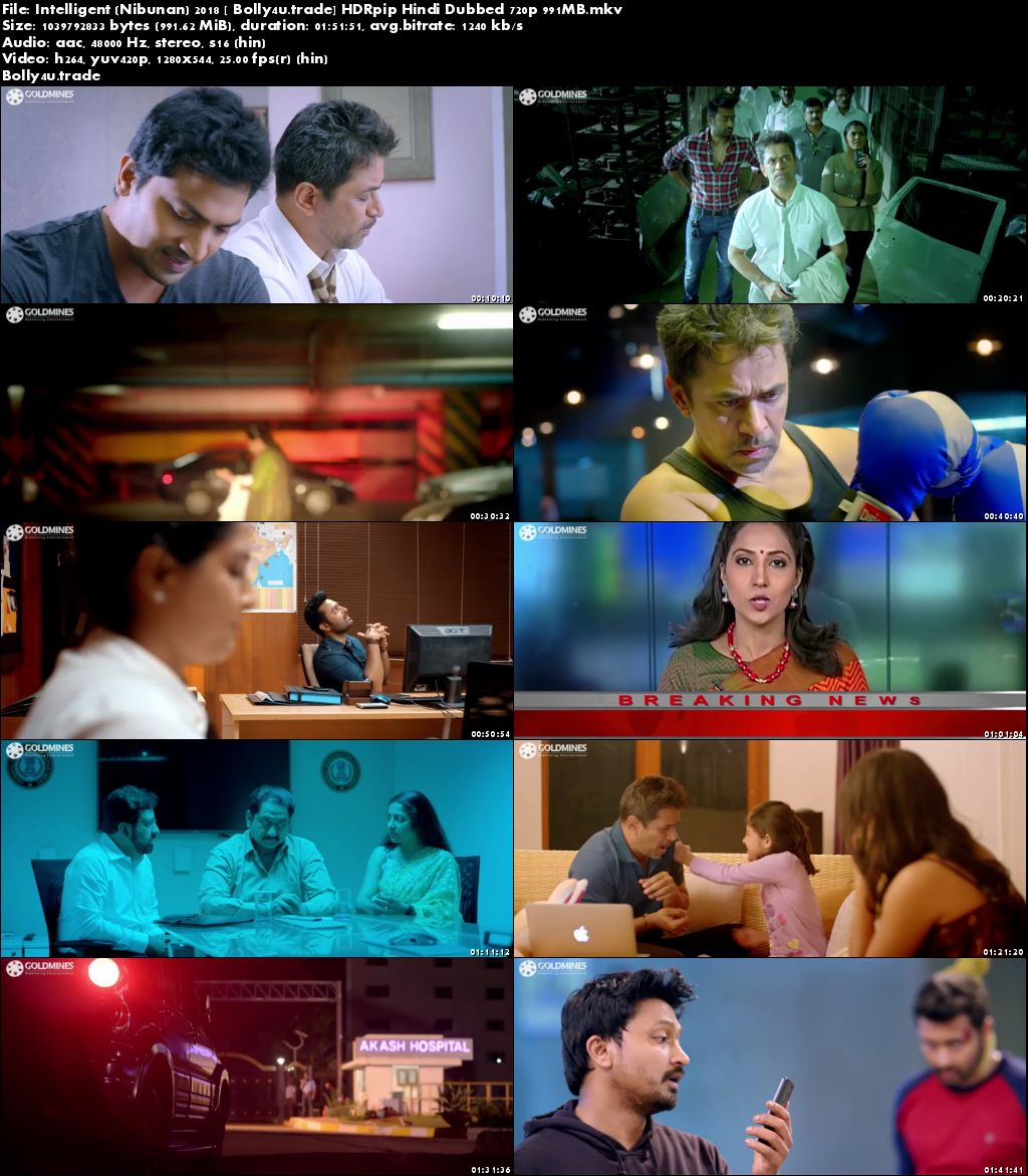 Intelligent 2018 HDRip 950MB Full Hindi Dubbed Movie Download 720p