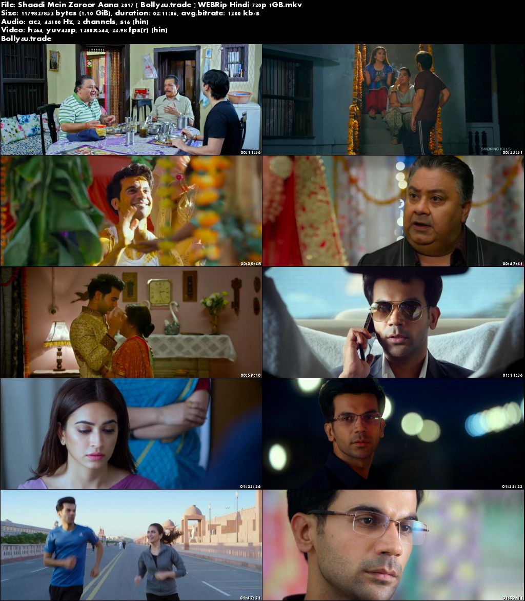 Shaadi Mein Zaroor Aana 2017 WEBRip 1GB Full Hindi Movie Download 720p