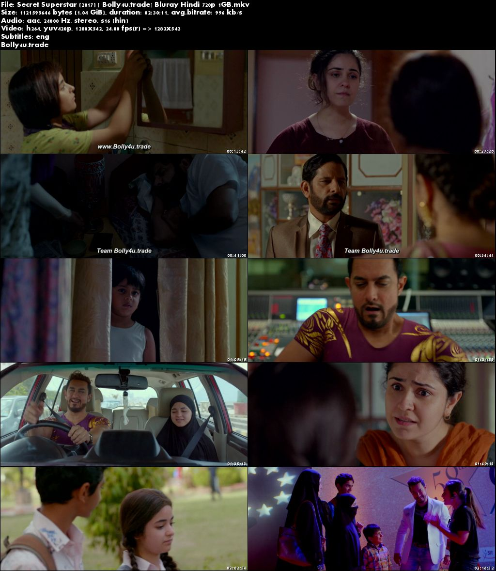 Secret Superstar 2017 BluRay 1GB Full Hindi Movie Download 720p