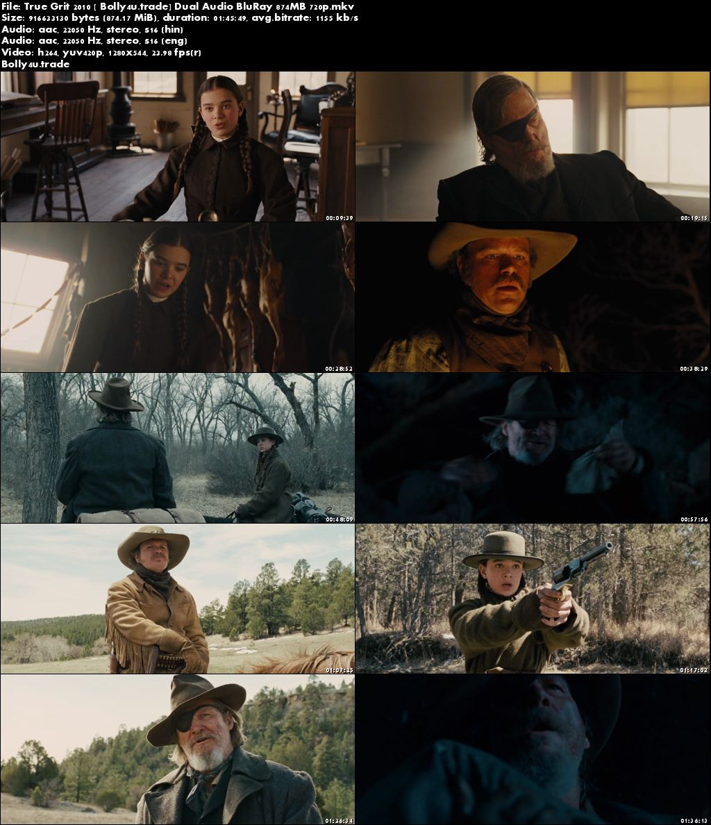 True Grit 2010 BluRay 350MB Full Hindi Dual Audio Movie Download 480p