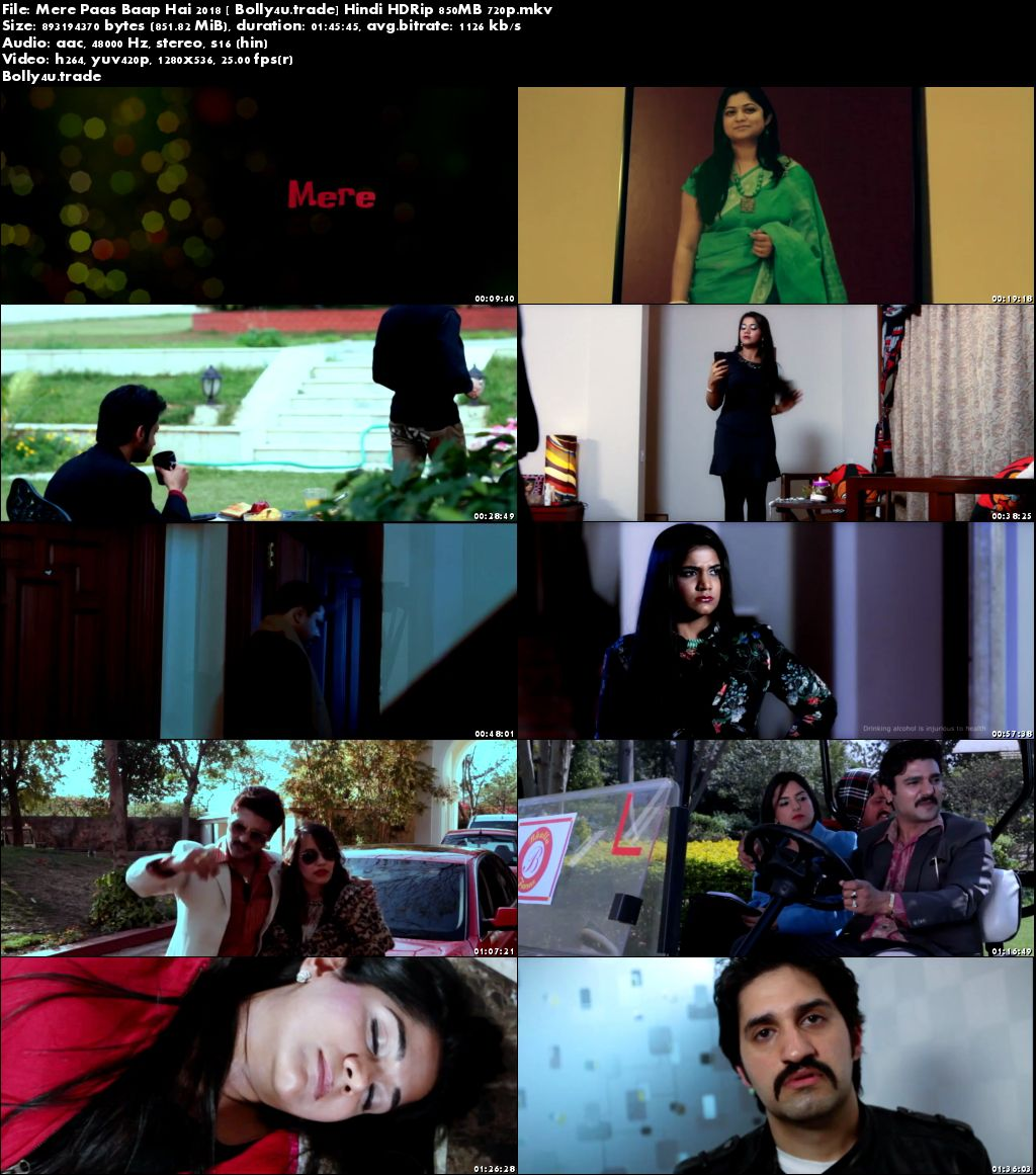 Mere Paas Baap Hai 2018 HDRip 300Mb Full Hindi Movie Download 480p