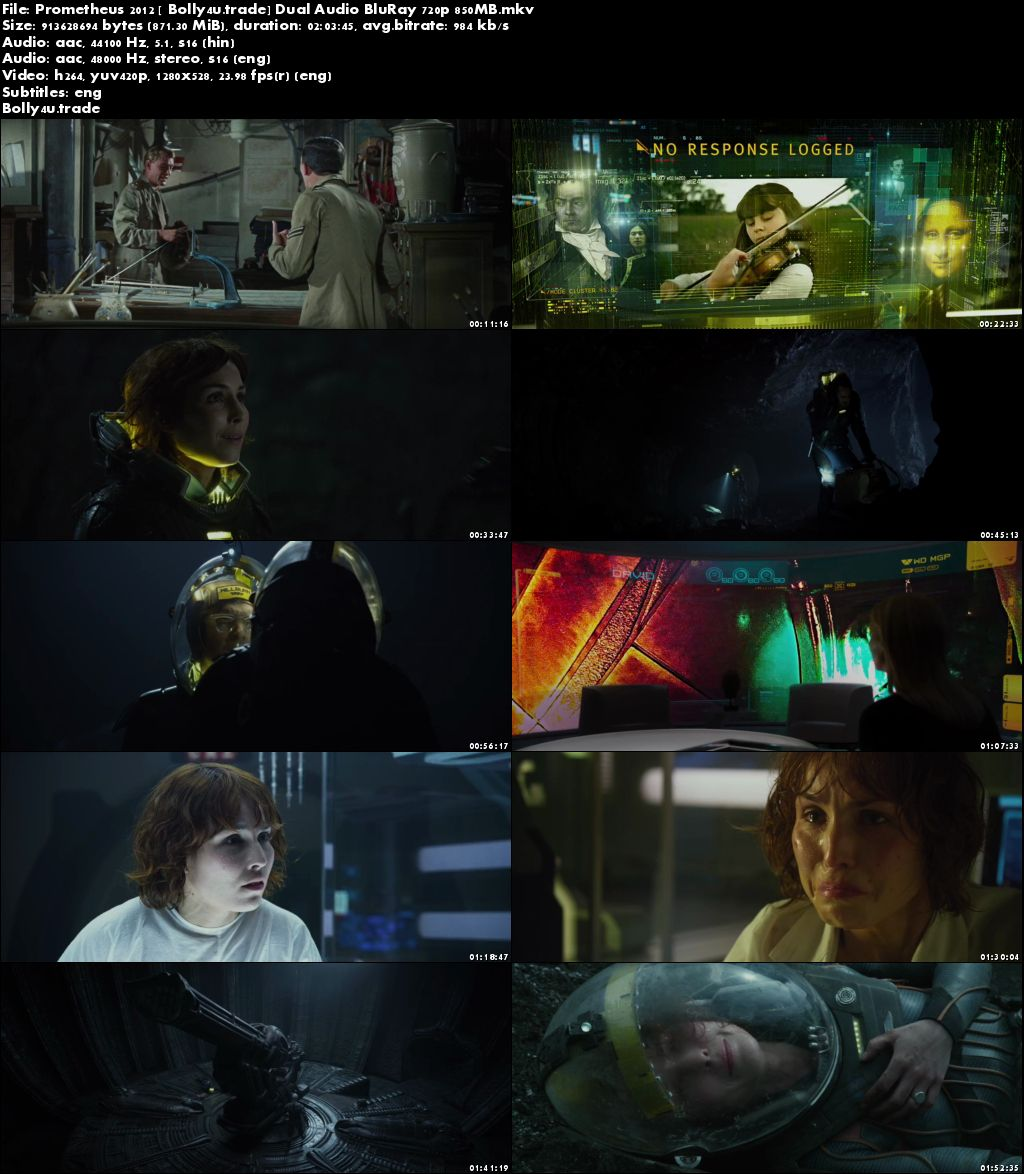 Prometheus 2012 BluRay 400Mb Hindi Dual Audio 480p Download