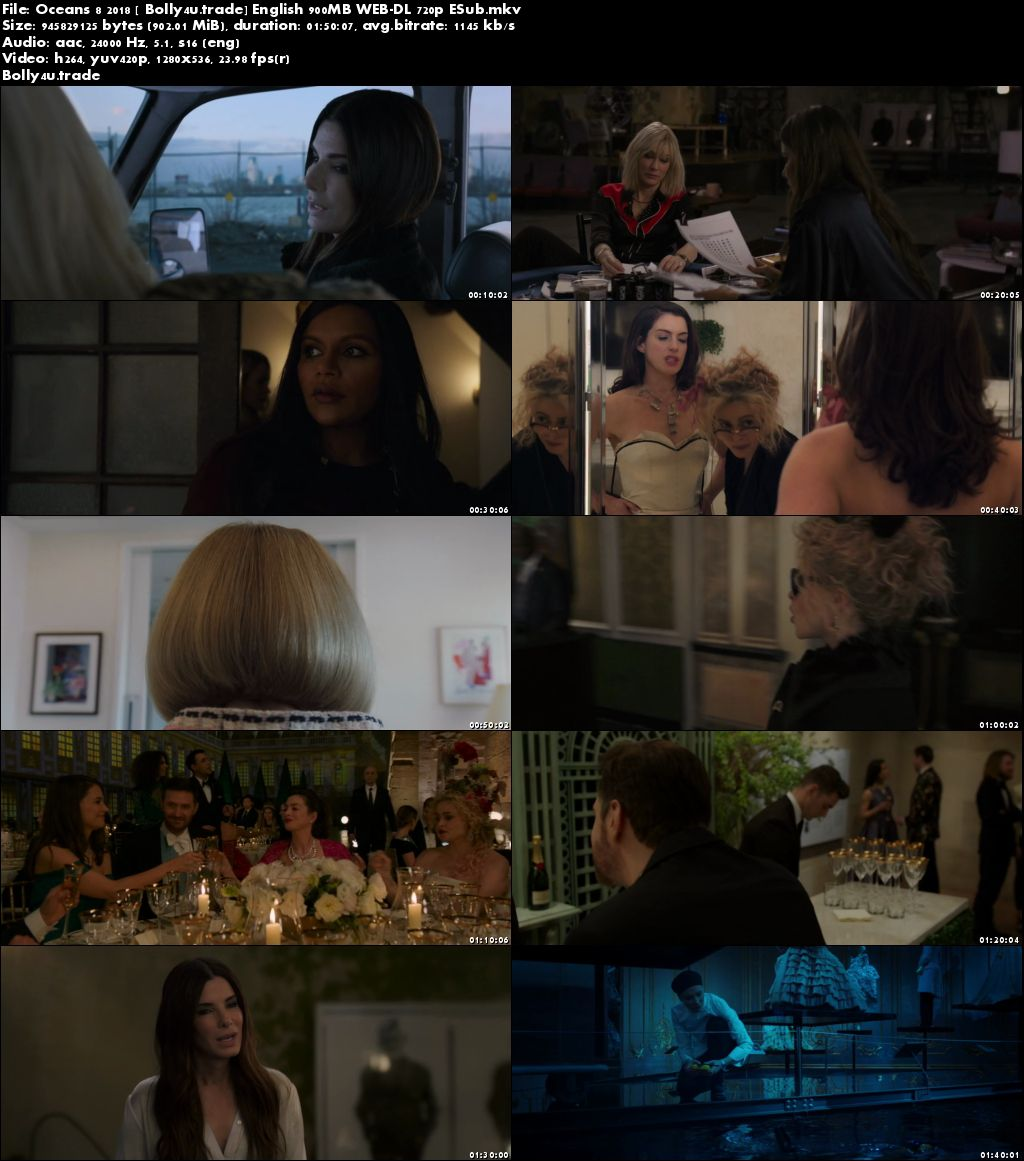Oceans 8 2018 WEB-DL 900Mb Full English Movie Download 720p
