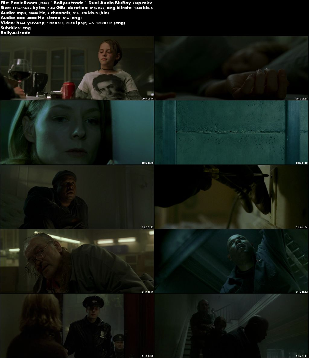 Panic Room 2002 BluRay 1GB Full Hindi Dual Audio Movie Download 720p
