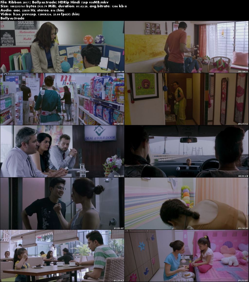 Ribbon 2017 HDRip 300MB Full Hindi Movie Download 480p