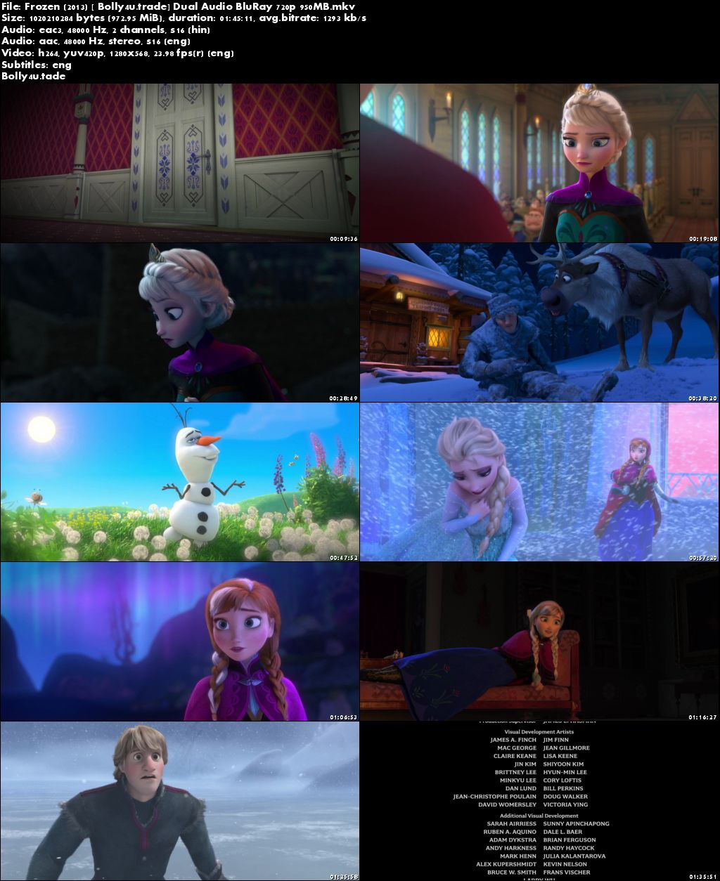 Frozen 2013 BluRay 350MB Full Hindi Dual Audio Movie Download 480p