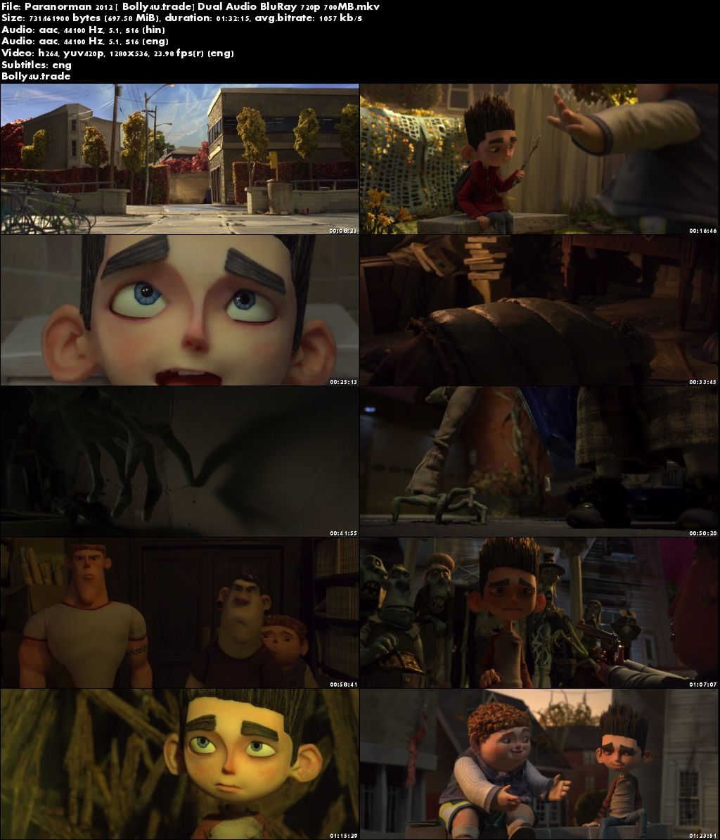 ParaNorman 2012 BluRay 700MB Hindi Dubbed Dual Audio 720p ESub Download